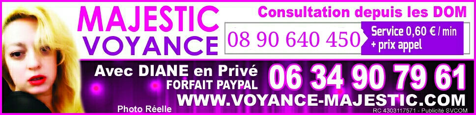 Majestic voyance sans CB France Dom tom Suisse et Belgique